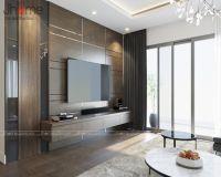Thiết kế, thi công nội thất phòng khách chung cư New Skyline Văn Quán - Nội thất Jhome