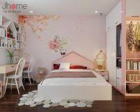 Thiết kế, thi công nội thất phòng ngủ con gái chung cư New Skyline Văn Quán - Nội thất Jhome