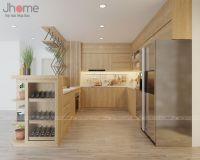 Thiết kế nội thất phòng bếp chung cư Vimeco - Nội thất Jhome