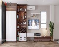 Thiết kế nội thất phòng khách nhà phố ở Nghi Tàm - Nội thất Jhome