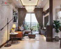 Thiết kế nội thất phòng khách căn hộ tòa A2 chung cư Vinhomes Gardenia- Nội thất Jhome