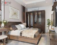 Thiết kế nội thất phòng ngủ master căn hộ tòa A2 chung cư Vinhomes Gardenia - Nội thất Jhome