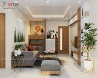 Thiết kế nội thất phòng khách chung cư CT1 Thạch Bàn - Nội thất Jhome