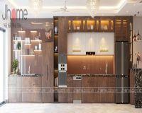 Thiết kế nội thất phòng bếp biệt thự Ecopark anh Ngọc - Nội thất Jhome