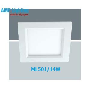 Đèn Downlight âm trần vuông LED 14W ML501/14W
