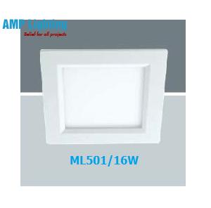 Đèn Downlight âm trần vuông LED 16W ML501/16W