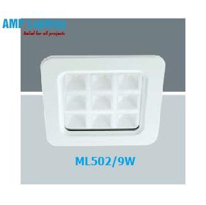 Đèn Downlight âm trần vuông LED 9W