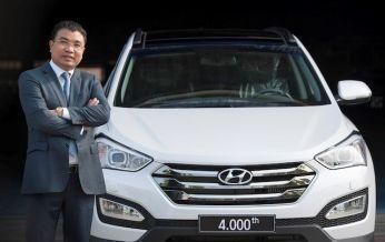 Hyundai Thành Công xuất xưởng chiếc xe SantaFe thứ 4.000
