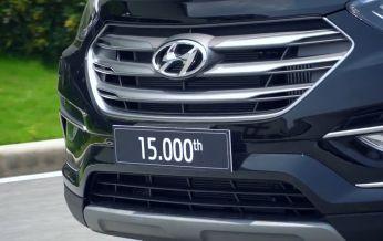 Chào mừng chiếc HYUNDAI SANTAFE thứ 15.000 được xuất xưởng tại nhà máy HYUNDAI THÀNH CÔNG NINH BÌNH
