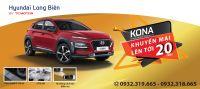 Hyundai Long Biên khuyến mại lên đến 20 triệu đồng khi khách hàng mua xe Hyundai KONA