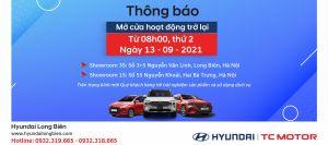 Hyundai Long Biên thông báo lịch làm việc trở lại