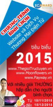 Bình chọn website TMĐT tiêu biểu 2015