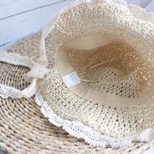 Nón đi biển, Mũ đi biển mũ cói em bé vành ren