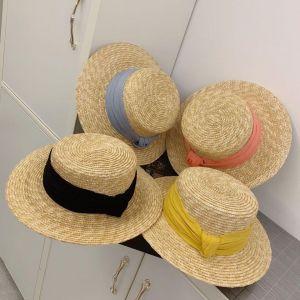 Mũ đi biển gaucho nơ màu sắc
