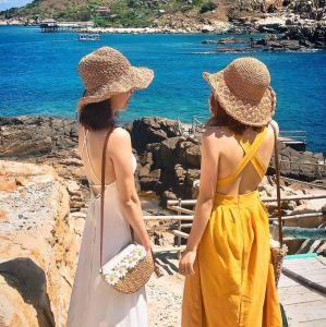 Mũ đi biển mũ cói mềm