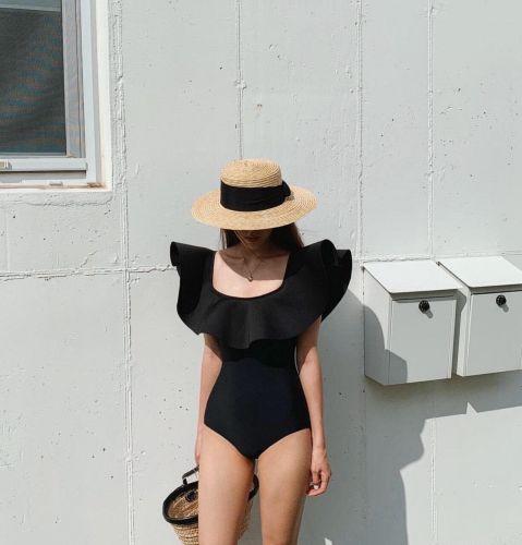 Nón đi biển, mũ đi biển mũ Gaucho nơ lụa cao cấp đi biển dành cho nữ hot nhất hè 2021