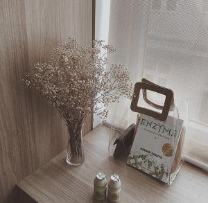 Túi xách tay nhựa hình chữ nhật (nâu)