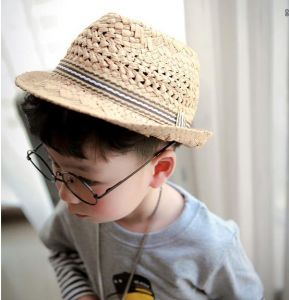 Mũ cói fedora bé trai