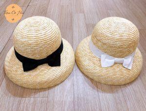 Mũ cói lồng đèn cỏ lúa mỳ