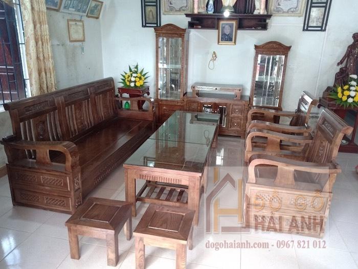 Bộ bàn ghế sa lông – bàn ghế sa lông gỗ giá rẻ BG09-O