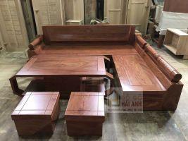 Sofa gỗ hương đá cao cấp mẫu kim cương