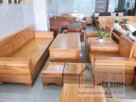 Bàn ghế gỗ gõ đỏ mẫu pháo đài BGG-02