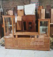 Kệ tủ rượu gỗ sồi nga 2m-2m4
