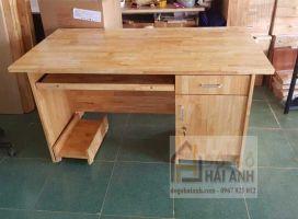 Bàn máy tính gỗ tự nhiên 1m-1m2