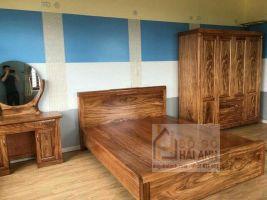 Giường hương xám kiểu bo trán 1m6x2m