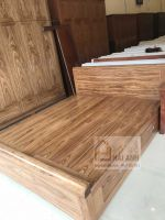 Giường ngủ có ngăn kéo gỗ hương xám 1m8x2m