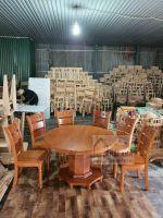 Bàn ăn tròn gỗ sồi nga 6 ghế (BAT-03)