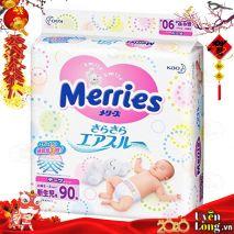 Bỉm Dán Merries Nội Địa Nhật Size NB90 (0-5kg)