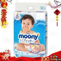[New 2019] Bỉm Dán Moony Nội Địa Nhật Size M64 (6-11kg)