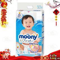 [New 2019] Bỉm Dán Moony Nội Địa Nhật Size L54 (9-14kg)