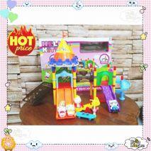 Bộ đồ chơi Lắp Ghép Công Viên Giải Trí Hello Kitty (Phiên Bản Chất Lượng)