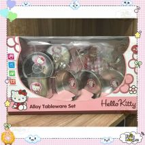 Bộ đồ chơi Dụng cụ nấu ăn Inox Hello Kitty (Chất Lượng Cao)