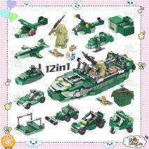 Bộ Lắp Ghép 12in1 Theo Chủ Đề Tàu Chiến Hành Động