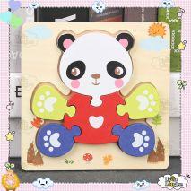 Bộ Đồ Chơi Bảng Xếp Hình Gấu Trúc 3D Dành Cho Trẻ Nhỏ 1+ (Hàng Chất Lượng Cao)