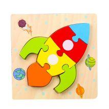 Bộ Đồ Chơi Bảng Xếp Hình Tên Lửa 3D Dành Cho Trẻ Nhỏ 1+ (Hàng Chất Lượng Cao)