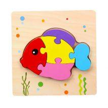Bộ Đồ Chơi Bảng Xếp Hình Con Cá 3D Dành Cho Trẻ Nhỏ 1+ (Hàng Chất Lượng Cao)
