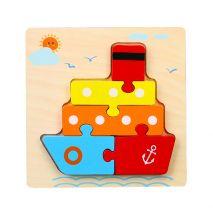 Bộ Đồ Chơi Bảng Xếp Hình Tàu Thuyền 3D Dành Cho Trẻ Nhỏ 1+ (Hàng Chất Lượng Cao)