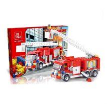 Bộ đồ chơi LEGO lắp ghép Xe Cứu Hỏa FIRE RESCUE (Phiên Bản Cao Cấp)