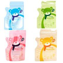 Hộp 30 Túi Trữ Sữa Baby Age Loại 250ml Có 2 Zip (Màu: Hồng/Xanh Dương/Xanh Lá/Vàng)