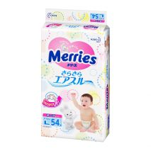 Bỉm Dán Merries Nội Địa Nhật Size L54 (9-14kg)