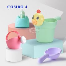 COMBO 4 Đồ Chơi Nhà Tắm Cho Bé (Nhựa Cao Cấp, An Toàn Cho Trẻ Nhỏ, Trợ Thủ Đắc Lực Cho Mẹ Trong Mỗi Lần Bé Tắm)