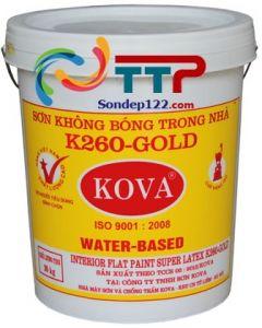 SƠN KHÔNG BÓNG TRONG NHÀ KOVA K260 GOLD 20kg
