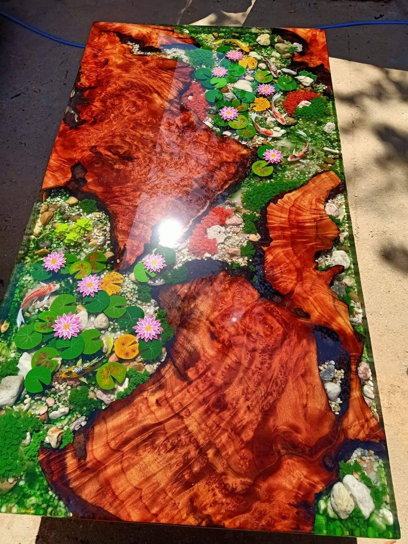 bàn gỗ epoxy RBE - 06