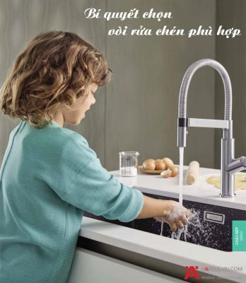 Bí Quyết Chọn Mua Vòi Rửa Chén Phù Hợp