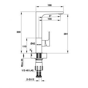 Vòi Rửa HT19-CH1F281 Hafele 570.51.030