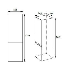 Tủ Lạnh Lắp Âm HF-BI60B Hafele 533.13.050